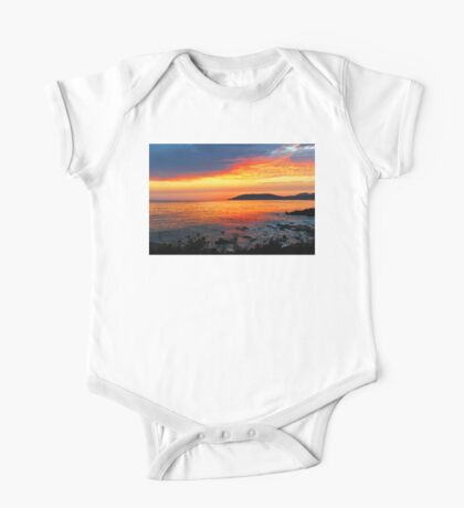 Shell Beach Sunset One Piece - Short Sleeve