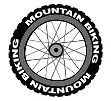 Mountain Bike Wheel Photographic Print