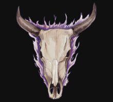 Flaming Skulls - Ox by drakhenliche