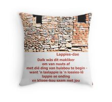 Lappies-dae Throw Pillow