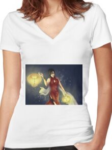 Ada Wong Women's Fitted V-Neck T-Shirt