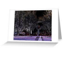 Eerie Midnight Wanderer Greeting Card