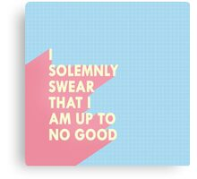 I solemnly swear... Canvas Print