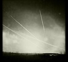 Black & White Contrails by GaryDanton