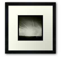 Black & White Contrails Framed Print