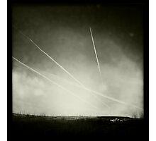 Black & White Contrails Photographic Print