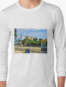 Puppy Doctor on the Trolley Fort Lauderdale Downtown Long Sleeve T-Shirt