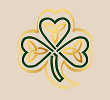 Celtic Shamrock In Green and Gold  Unisex T-Shirt