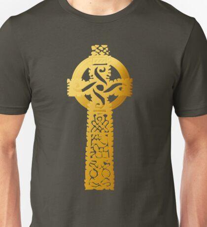 Gold Celtic Cross Unisex T-Shirt