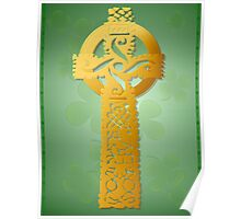 Gold Celtic Cross Poster 2 Poster
