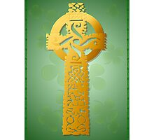 Gold Celtic Cross Poster 2 Photographic Print