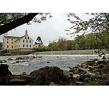 Slater Mill and Dam Photographic Print