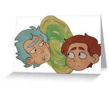 Rick And Morty - Portal Greeting Card