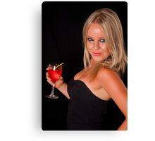 Bryana on a night out Canvas Print