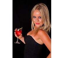 Bryana on a night out Photographic Print