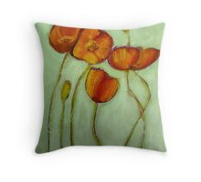 Poppies 2 Throw Pillow