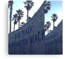Pier Plaza Huntington Beach Canvas Print