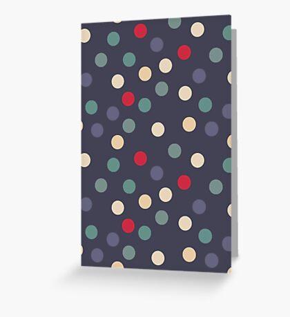 Blue grey polka dots Greeting Card