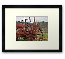 Antique Tractor - Rusted and Weathered Framed Print