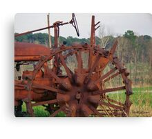 Antique Tractor - Rusted and Weathered Canvas Print