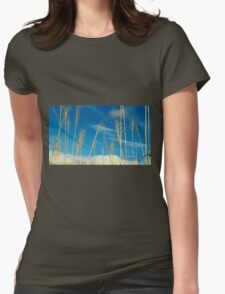 Wheat In The Sky Womens Fitted T-Shirt