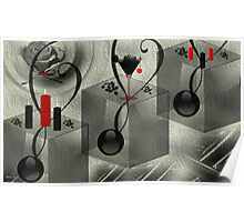 Wall Art Design - 10 - Black and white Poster