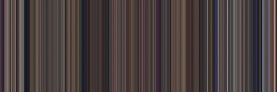Moviebarcode: Snow White and the Seven Dwarfs (1937) [Simplified Colors] by moviebarcode