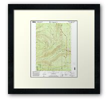 USGS Topo Map Oregon Red Blanket Mountain 281237 1997 24000 Framed Print