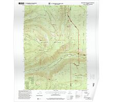 USGS Topo Map Oregon Red Blanket Mountain 281237 1997 24000 Poster