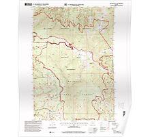 USGS Topo Map Oregon Bullrun Rock 279201 1998 24000 Poster