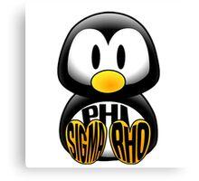 Phi Sigma Rho Penguin Canvas Print