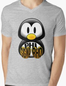 Phi Sigma Rho Penguin Mens V-Neck T-Shirt