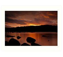 Norfolk Bay Sunset Art Print