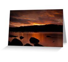 Norfolk Bay Sunset Greeting Card