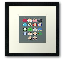 Females In Video Games Framed Print