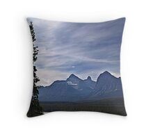 Athabasca River and the Rockies Throw Pillow
