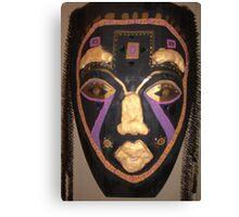 Female African Warrior Mask Canvas Print