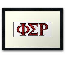 Phi Sigma Rho Rose Letters Framed Print
