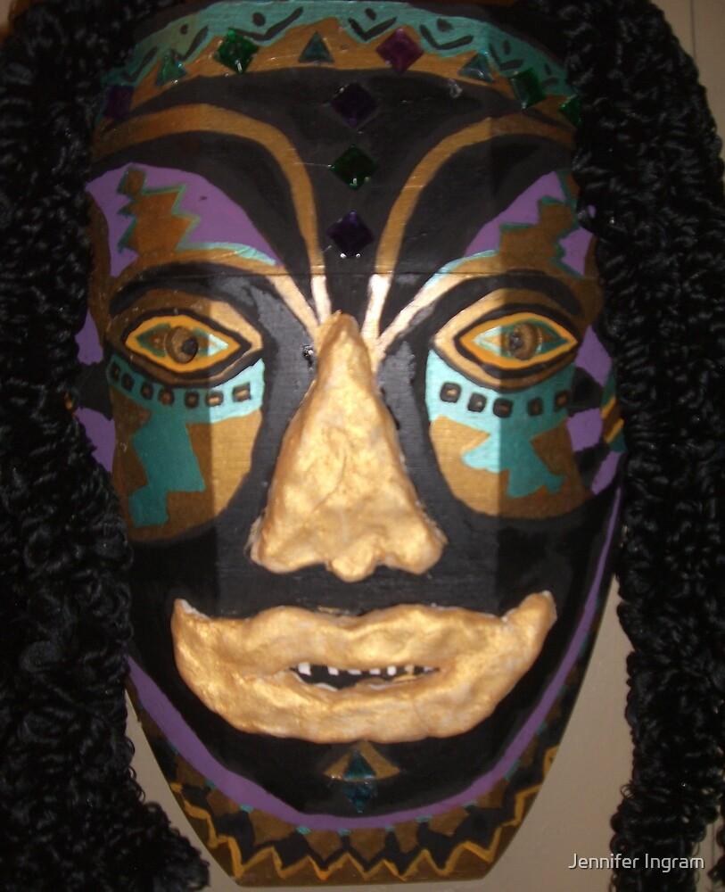 Male African Warrior Mask by Jennifer Ingram