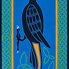 Black Cockatoo - Aussie-Celtic design by Marta Lett