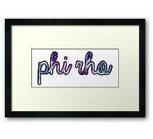 Phi Rho Galaxy Framed Print