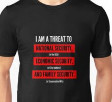 "Jeremy Corbyn ""A Serious Threat"" t-shirt (Black) Unisex T-Shirt"