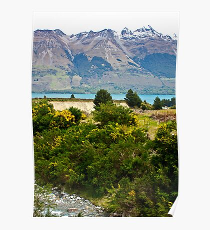 { new zealand mountains } Poster