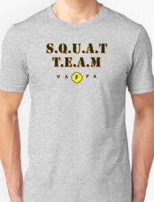 WAFA Squat Team Gray/Black/Yellow Unisex T-Shirt