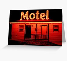 Red Motel Greeting Card