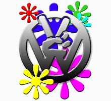 VW Peace hand sign with flowers T-Shirt