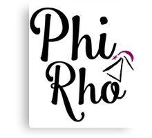 Phi Rho Script Canvas Print