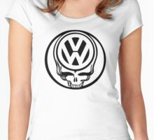 VW Dead Head black Women's Fitted Scoop T-Shirt