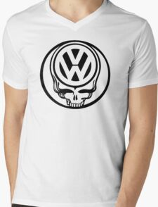 VW Dead Head black Mens V-Neck T-Shirt