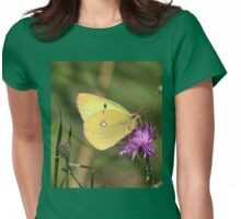 Beautiful Clouded Yellow Butterfly Womens Fitted T-Shirt